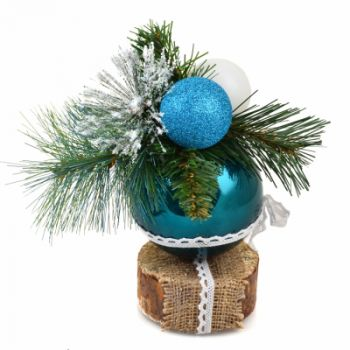 Ялинкова іграшка YES! Fun куля Різдвяний 10 см (903796)